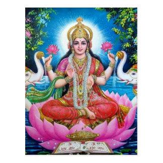 Lakshmi Goddess of Love, Prosperity, and Wealth Postcard