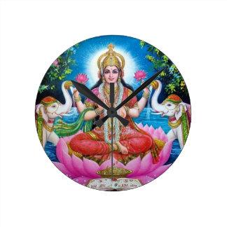 Lakshmi Goddess of Love, Prosperity, and Wealth Round Clock