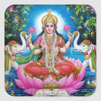 Lakshmi Goddess of Love, Prosperity, and Wealth Square Sticker