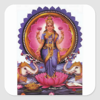 Lakshmi - Goddess of Wealth, Happiness, and Beauty Square Sticker