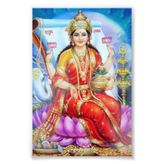 """Lakshmi Print (4"""" x 6"""") - Version 1"""