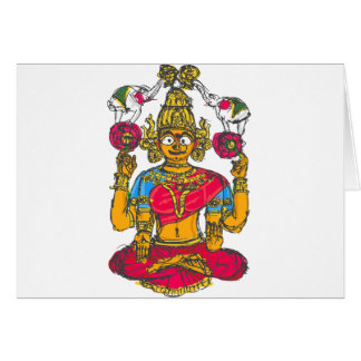 Lakshmi / Shridebi in Meditation Pose Card