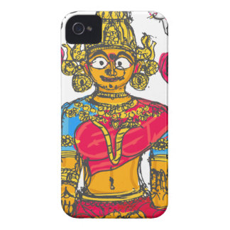 Lakshmi / Shridebi in Meditation Pose iPhone 4 Case-Mate Cases