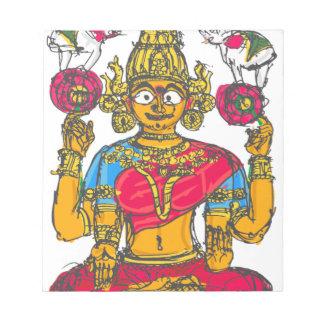Lakshmi / Shridebi in Meditation Pose Notepad