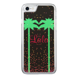 Lala 0215; California Summer iPhone 6 Wood Case. Carved iPhone 7 Case