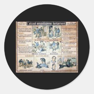 L'Alcool Voila l'Ennemi #2 Round Sticker