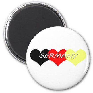 L'Allemagne Magnet Rond 8 Cm