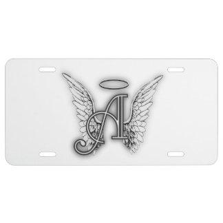L'alphabet d'ange ce dernier initial s'envole le plaque d'immatriculation
