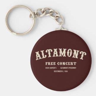 l'altamont libèrent le concert porte-clé rond