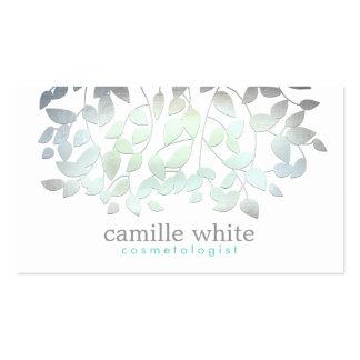 L'aluminium de vert bleu de Faux de cosmétologie Carte De Visite Standard