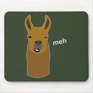 Lama Funny Face Mouse Pad