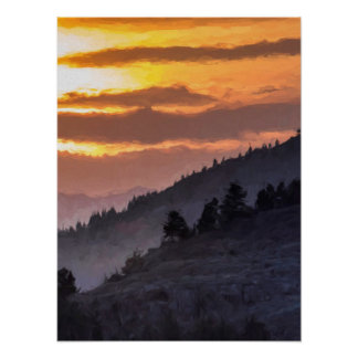 Lamar Valley Sunset Poster