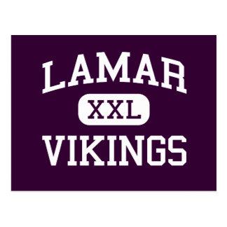 Lamar - Vikings - High School - Arlington Texas Postcard
