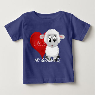 "Lamb and heart design with ""I love My Grauntie!"" Baby T-Shirt"