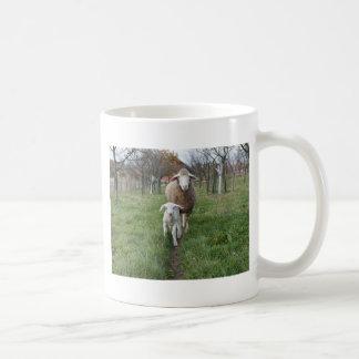 Lamb and sheep coffee mug
