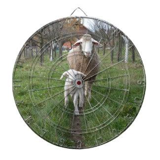 Lamb and sheep dartboard