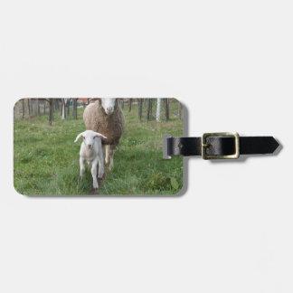 Lamb and sheep luggage tag