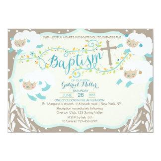 Lamb Baptism Invitation