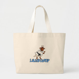 lamb chop large tote bag