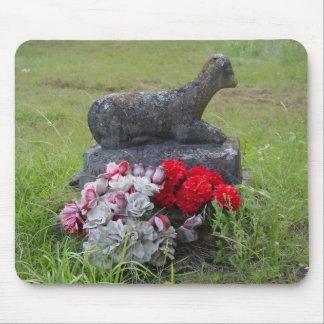 Lamb Headstone Mousepad