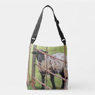 Lamb in spring crossbody bag