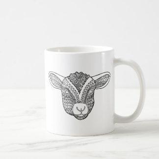 Lamb Line Art Design Coffee Mug
