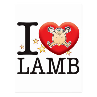 Lamb Love Man Postcard