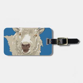 Lamb Luggage Tag