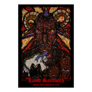 """Lamb Sandwich"" Print"