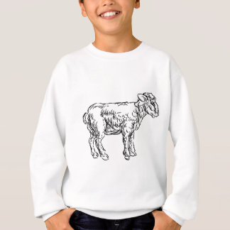 Lamb Sheep Food Grunge Style Hand Drawn Icon Sweatshirt