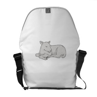 Lamb Sleeping Drawing Courier Bag