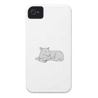 Lamb Sleeping Drawing iPhone 4 Covers