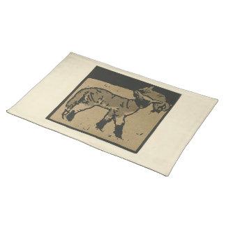 Lamb - Square Animals Illustration Placemat