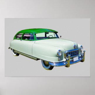 L'Ambassadeur 1950 de Nash voiture ancienne Affiches