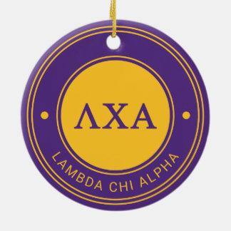 Lambda Chi Alpha | Badge Ceramic Ornament
