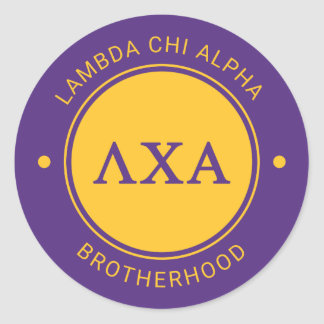 Lambda Chi Alpha | Badge Classic Round Sticker