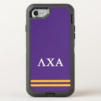 Lambda Chi Alpha | Sport Stripe OtterBox Defender iPhone 8/7 Case