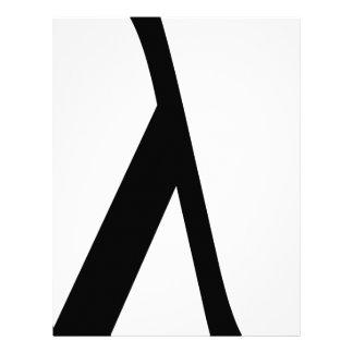 lambda Symbol Letterhead