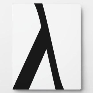 lambda Symbol Plaque