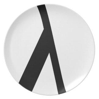lambda Symbol Plate