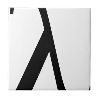 lambda Symbol Tile