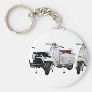 lambretta basic round button keychain