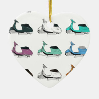 Lambretta Pop Art Ceramic Ornament