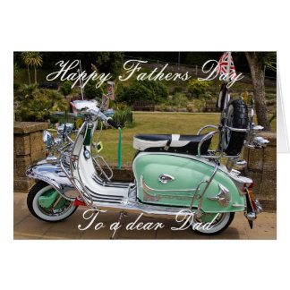 LAMBRETTA SCOOTER FATHERS DAY CARD