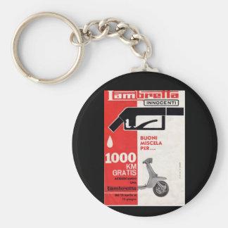 Lambretta scooter vintage sales leaflet basic round button keychain