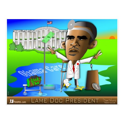 Lame Doc President Post Card