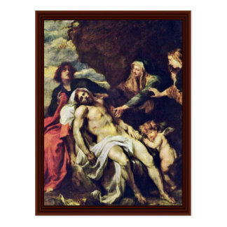 Lamentation By Dyck Anthonis Van Postcard