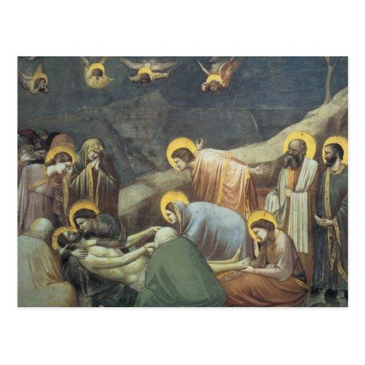 Lamentation de Giotto du Christ Cartes Postales