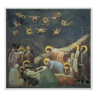 Lamentation of Christ, c.1305 Giotto Poster