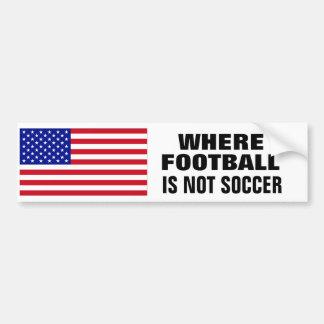 L'AMÉRIQUE : Là où le football n'est pas Autocollant De Voiture